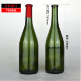 750ml бутылку пива зеленого цвета желтого вина бачок с Корк упоры