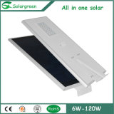 Fabricante Ce / RoHS / FCC Single / Double Arm Bridgelux LED Solar Street Light