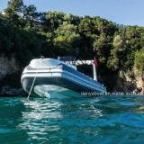 Venta del barco del casco de la fibra de vidrio del barco 520 de la costilla de Liya en Europa