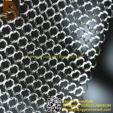 Cortinas de malha de metal de anel de aço inoxidável