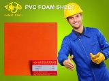 Folha de espuma de PVC laranja para decoração exterior 1-5mm