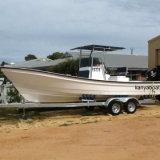 Barco de pesca comercial do barco da fibra de vidro de Liya 7.6m para a venda