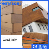 Panneau composé en aluminium d'ACP de configuration en bois pour le matériau de décoration