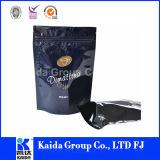 L'imballaggio di alimento di plastica si leva in piedi in su il sacchetto di caffè della chiusura lampo