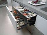 Weißer Lack-glatter Küche-Schrank (zz-009)