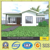 Casa modular da casa de campo do frame de aço de projeto moderno