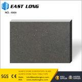 Venta al por mayor negra/gris pura oscura de la piedra del cuarzo para la cocina/el cuarto de baño