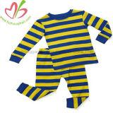 아이들을%s 100%년 면 아기 크리스마스 옷에 의하여 놓이는 긴 소매 작업 바지 줄무늬 Sleepwear