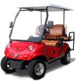 Автомобиль тележки гольфа 4 Seater туристский с складным задним сиденьем