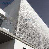 Mur rideau en aluminium extérieur panneau perforé