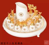 12 Zodiac óculos, objectos coleccionáveis de cerâmica, Enterprise dons de negócios personalizados