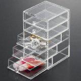 Acrylic desobstruído Plastic Storage Box com Dividers (BTR-B2102)