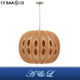 Lâmpada de madeira natural do pendente da pele do vendedor quente para a sala de visitas