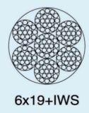 Galvanisiertes weißes Belüftung-Stahldrahtseil 6X19+FC 6mm