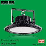 Hot vender OVNI 100 vatios de iluminación LED de alta Bay 200 brillante luz de la Bahía Alta de la luz de la tienda almacén W