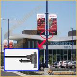 Via palo chiaro del metallo che fa pubblicità alla parentesi della bandierina (BS-BS-052)