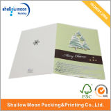 Cartão de papel do Feliz Natal feito sob encomenda com logotipo
