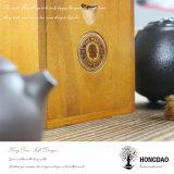 Hongdao hoher Glanz-Lack-hölzerne Uhr, die Box_D verpackt