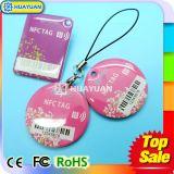 Modifica chiave a resina epossidica passiva di stampa Ntag216 RIFD NFC di marchio del laser