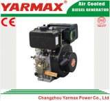 Lucht van Yarmax koelde het Enige Elektrische Begin van de Cilinder 178f 4HP 5HP met de Dieselmotor van Ce ISO