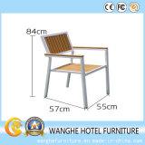Garden Metal Wood Coffee Chair Outdoor Furniture