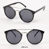 As mulheres de forma redonda de óculos de sol com ponte Dupla