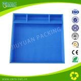 Recipiente di plastica di colore verde per uso del magazzino