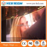 低い電力の消費P4.8mmの舞台の背景の表示