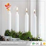 Il bianco poco costoso esamina in controluce l'illuminazione della famiglia della candela della chiesa