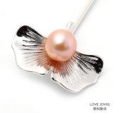 単にロータス葉様式の実質の真珠のブローチPinの水晶ブローチ、花のブローチ、ブローチの宝石類、ブローチの花束、型の真珠のブローチ、型のブローチ、旧式なPin
