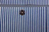 un sacchetto a strisce blu di attaccatura di parete con cinque caselle