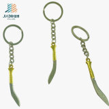(Jiabo--YSK1068) Espada Katana del oro del metal de la decoración del hogar de la insignia de Customzie con Keychain