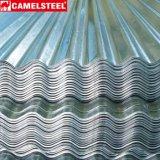 Chapas de aço da telhadura ondulada de alumínio do zinco no edifício