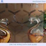 Het Glas van de steen en Glas Backsplashes met Zuur Geëtst Glas