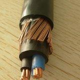 600/1000V de Kern van het koper om Kabel van de Macht van de Draad van het Koper van 2 Kern de Gepantserde Concentrische