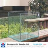 vidro de flutuador liso de 3-19mm para o edifício/Home desobstruídos com Ce