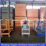 Plate-forme suspendue par aluminium sur le berceau de construction
