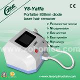 Y8非侵襲的な苦痛の自由な808nmダイオードレーザーの毛の取り外し装置