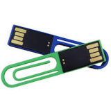 플라스틱 Paper Clip USB Flash Drive Creative Super Mini Pen Drive USB 64G 32g 16g 8g 4G 2g 1g (UA85)