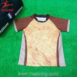 Pullover pieno di rugby di sublimazione della banda di Healong Brown