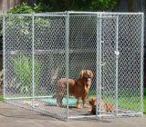 Barragem de canil de grande porte de metal grande, casa de cachorro de metal