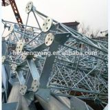 El enrejado de acero galvanizado Guyed Comunicación torre celular