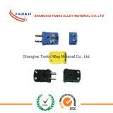 Conector de termopar em miniatura de cor preta / amarelo / verde (tipo JK)