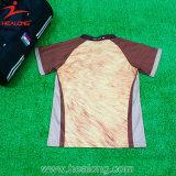 Healongブラウンの縞の完全な昇華ラグビーのジャージ