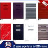 Portes acryliques lustrées modernes de Module de cuisine avec la bordure foncée de PVC (personnalisée)