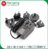 交換可能の18V1.5A AC DC電源のアダプター私達AuイギリスEU Jp Cnのプラグ