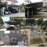 Toldo de los garages del pabellón de Rainshed Sunshed del Gazebo del Carport del jardín del chalet del Aluminio-Alloyaterpr&PC