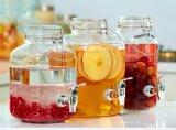 Cristalleria di vetro dello zipolo 4.1L del vaso della grande bevanda rotonda