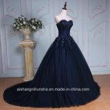 Роскошный Applique валика клея милая горловины длинные вечерние платья Ппзу Openboot