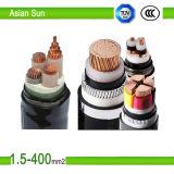 Алюминиевый медный силовой кабель проводника обшитый XLPE/PVC